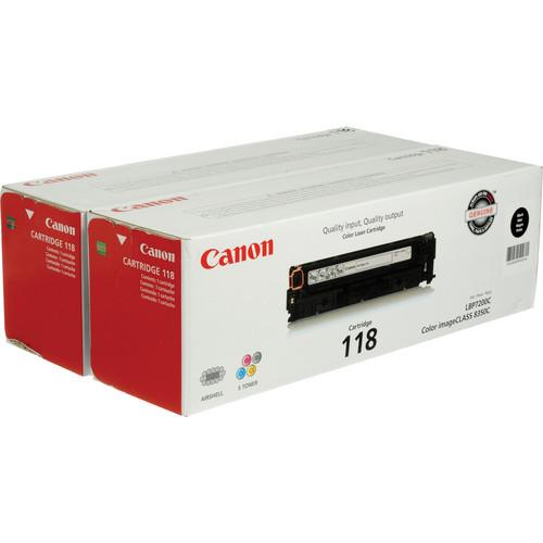 Canon 118 Black Toner Cartridges Value Pack Pack Of 2 2662B004AA Canon 2662B004AA