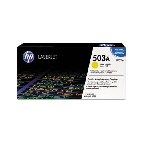 HP 503A Q7582A Smart Print Cartridge, Yellow  HP Q7582A
