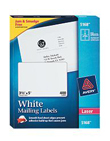 Avery Avery 5168 White Shipping Labels with TrueBlock Technology for Laser Printers (3 1/2 x 5) (4 Labels/Sheet) (100 Sheets/Box)