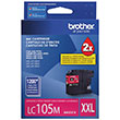 Brother Brother LC105M Super High Yield Magenta Ink Cartridge (1200 Yield)