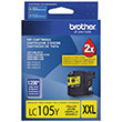 Brother Brother LC105Y Super High Yield Yellow Ink Cartridge (1200 Yield)