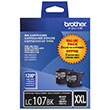 Brother Brother LC1072PKS Super High Yield Black Ink Cartridge Dual Pack (2 Pack of OEM# LC107BK) (2 x 1200 Yield)