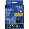 Brother Brother LC107BK Super High Yield Black Ink Cartridge (1200 Yield)
