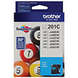 Brother Brother LC201C Cyan Ink Cartridge (260 Yield)