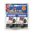 Brother Brother LC41BK2PKS Black Ink Cartridge Twin Pack (2 Pack of OEM# LC41BK) (2 x 500 Yield)