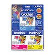 Brother Brother LC513PKS C/M/Y Ink Cartridge Combo Pack (Includes 1 Each of OEM# LC51C LC51M LC51Y) (3 x 400 Yield)